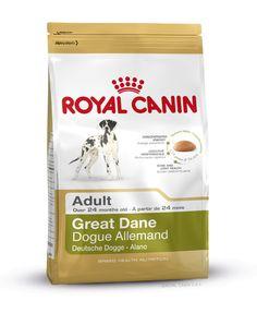 GREAT DANE ADULT wurde speziell für die ausgewachsene Deutsche #Dogge ab dem 24. Monat entwickelt. Eine extra energiedichte Krokette (25 % Fettgehalt) deckt optimal den Bedarf der Deutschen Dogge ab, ohne ihren Magen zu überlasten. Die spezielle Krokettenform, -Größe und -Textur regen zu intensivem Kauen an. http://www.royal-canin.de/hund/produkte/im-fachhandel/nahrung-fuer-rassehunde/ausgewachsene-rassehunde/great-dane-adult/