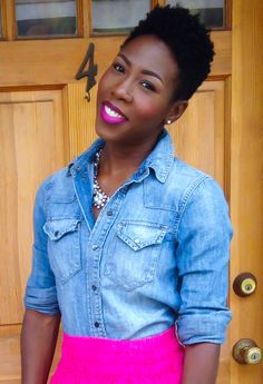 Twa natural hair tapered cut