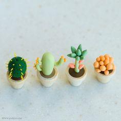 Clay cactus by {JooJoo}, via Flickr