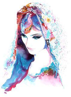 Indian Fashion Print Indian Bride Print from door silverridgestudio