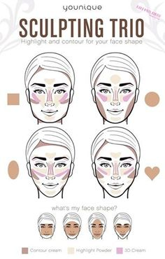 Highlight and Contour to suit your face shape.  #Contouring #Strobing #SculptingTrio Mama Loves Makeup - Younique by Louise's photo.