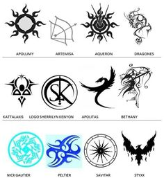 Dark Hunter book series symbols - Eventually I might get one of these a tattoo.