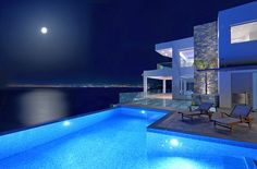 Crete Villas   • Luxury villa right next to the sea with its own sea shore of approximately 30 metres.      • 6 Bedrooms with en-suit bathrooms