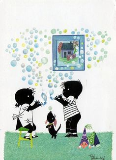 35 by ZooEsposito, via Flickr Children's Book Illustration, Illustrations, Dachshund, Holland, Blowing Bubbles, Schmidt, Bedtime Stories, 4 Kids, Childrens Books