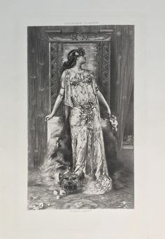 Sarah Bernhardt as Cleopatra Etching after Georges Clairin,  1894 by Artsfabrica…
