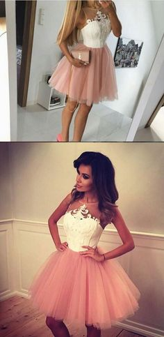 short homecoming dress prom dress 2017, pink prom dress homecoming dress, cute dress