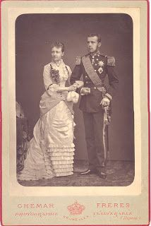 Princess Stéphanie of Belgium wed Austro-Hungarian Crown Prince Rudolf in 1881. It was an unhappy marriage with lasting ramifications: their union produced a daughter but no son to become heir to the Hapsburg throne, and Rudolf committed suicide eight years after the wedding. Archduke Franz Ferdinand then became heir, but his assassination in 1914 precipitated World War I and the end of the Hapsburg Empire..