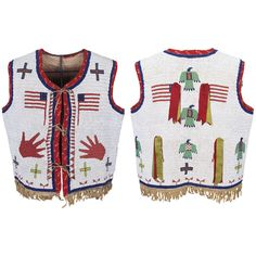 Fully Beaded Pictorial Native American Vest - Sioux, 19th Century | From a unique collection of antique and modern native american objects at http://www.1stdibs.com/furniture/folk-art/native-american-objects/