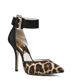 Michael Kors | Brinkley Leopard Hair Calf Ankle-Strap Pump #michaelkors #statement #shoes