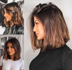 hairstyles featuring dark brown hair with highlights 3 ~ thereds.me - hairstyles featuring dark brown hair with highlights 3 ~ thereds. Medium Hair Cuts, Short Hair Cuts, Medium Hair Styles, Curly Hair Styles, Pixie Cuts, Brown Hair With Highlights, Brown Lob Hair, Partial Highlights, Short Brown Hair