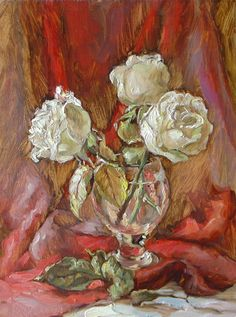 Marina Podgaevskaya - Pesquisa Google Cute Paintings, Water Colors, White Flowers, Flower Art, Still Life, Images, Beautiful, Expressionism, Florals