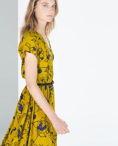 Image 2 of PRINTED DRESS WITH BELT from Zara