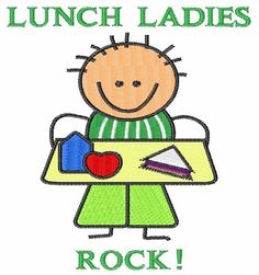 Lunch Ladies embroidery design