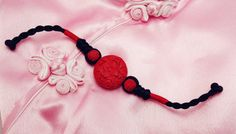 Red Circle Flower Patten Traditional Asian by TrendyOriental
