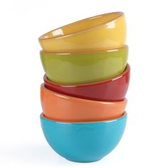 Beautiful bright cereal bowls
