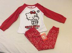 M&S kids girls hello kitty pyjama set 2-3 yrs