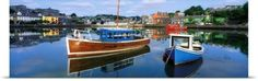 The Irish Image Collection Poster Print Wall Art Print entitled Boats in a Harbour, Kinsale, County Cork, Ireland, None