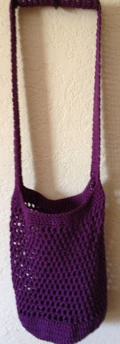 Eggplant Purple Mesh market Tote by SpiderCreations on Etsy, $15.00