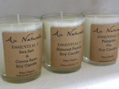 Scented Soy Candle     Two Ounce    NEW SCENT  by aunaturelle
