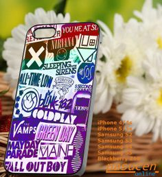 rock band logo   iPhone 4/4s/5/5c/5s Case  Samsung by PASUCEN, $15.00