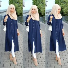 blue long tunic hijab blue long tunic hijab The post blue long tunic hijab appeared first on Mode Frauen. Muslim Women Fashion, Indian Fashion Dresses, Islamic Fashion, Abaya Fashion, Fashion Outfits, Blue Fashion, Modest Fashion, Fashion Clothes, Womens Fashion