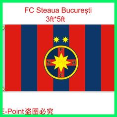 Romania (Liga 1 Bergenbier) FC Steaua Bucuresti hanging decoration Flag A 3ft*5ft (150cm*90cm)