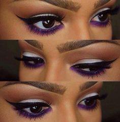 purple eyemakeup on Pinterest | Purple Eye Makeup, Silver and Purple
