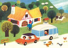 Affiche Alain Grée - Caravane