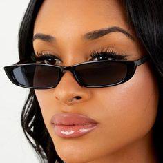 1db0ce97460 Babygirl Locs 94 Slim Rectangle Sunglasses Depop   Shopflymecca.com Vintage  Sunglasses
