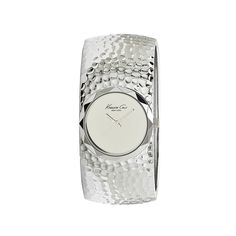 Silver Pebbled Bangle Watch by Kenneth Cole New York