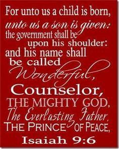Unto us a child is born...