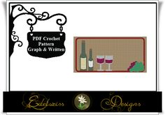 Looking for your next project? You're going to love Wine Grapes Crochet Graph Rug Pattern by designer DesignsEdelweis.