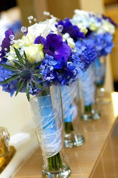 Weddings: wedding flowers blue www.floralpoetry.com