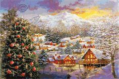 every season trees cross stitch   Christmas cross stitch kits