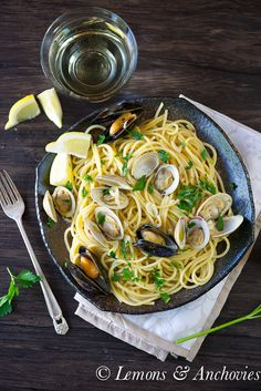 Pasta with Clams and Mussels | Lemons & Anchovies blog