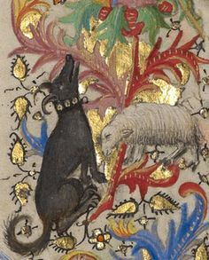 The Annunciation to the Shepherds (detail), Spitz Master, about 1420