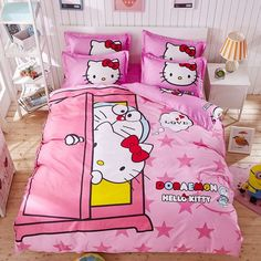 Hello kitty 4pcs 16 Variants Beding Set Include Duvet Cover Bed Sheet Pillowcase Worldwide Free Shipping