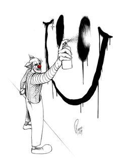 Grafiti (Dirty Clown) by Roger Barajas