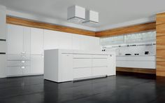 Lacquered Corian® kitchen with island ESSENTIAL QUADRA by TONCELLI CUCINE design Tommaso Toncelli