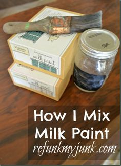 miss mustard seed | Hoe kan je Miss Mustard Seed's Milk Paint mixen? Door OldRedBarn