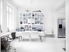 white color contemporary minimalist Scandinavian interior design
