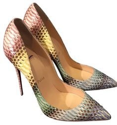 Christian Louboutin So Kate Python 120mm Multi Pumps. Get the must-have pumps of this season! These Christian Louboutin So Kate Python 120mm Multi Pumps are a top 10 member favorite on Tradesy. Save on yours before they're sold out!
