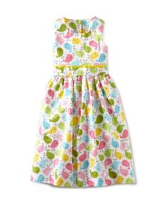 56% OFF Noa Lily Girl\'s Classic Dress with Birds (Pastel Multi)