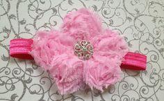 Petite Shabby Flower Gem Headband  by BrittsBeautyBoutique on Etsy, $8.00