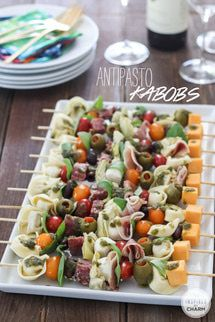 A Collection of Fall-tastic Appetizers: Antipasto Kabobs