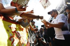 Fernando Alonso, McLaren signs autographs for the fans. Photo by McLaren on May 2016 at Spanish GP. Browse through our high-res professional motorsports photography F1 Barcelona, Fernando Alonso Mclaren, Spanish Grand Prix, F1 News, Formula One, Signs, World, Photography, Photograph