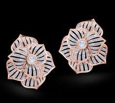 Rosamaria G Frangini   MyPinkJewellery   Diamond & Rose Cut Earring Diamond & rose cut earrings set in 18k rose gold.