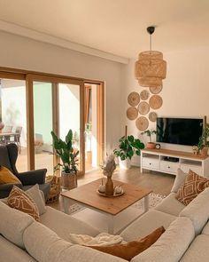 Living Room Decor Cozy, Living Room Goals, Boho Living Room, Home And Living, Bedroom Decor, Earthy Living Room, Fancy Living Rooms, Living Roon, Spacious Living Room