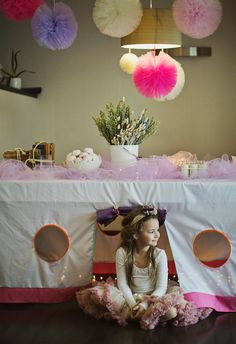 Huge value set - 26 TULLE pom poms - custom colors - wedding party decorations - birthday Ballerina Party Decorations, Decoration Birthday, Tulle Decorations, Card Table Playhouse, Playhouse Outdoor, Outdoor Play, Tulle Pompoms, Tulle Tutu, Birthday Party Games Indoor