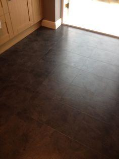 Luvanto Black Slate Luxury Vinyl Tile Flooring, Slate, Chalkboard